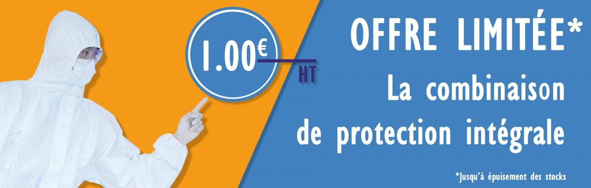 Combinaison de protection à 1€ HT